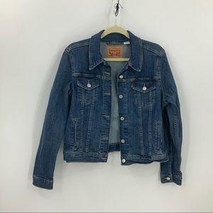 Levi's dark wash denim trucker jacket XL